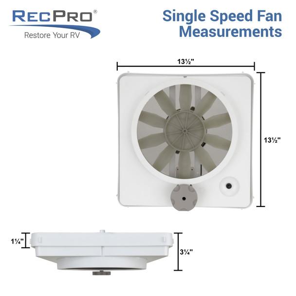 Heng's 90043-CR Vortex 1 Fan Kit Single Speed