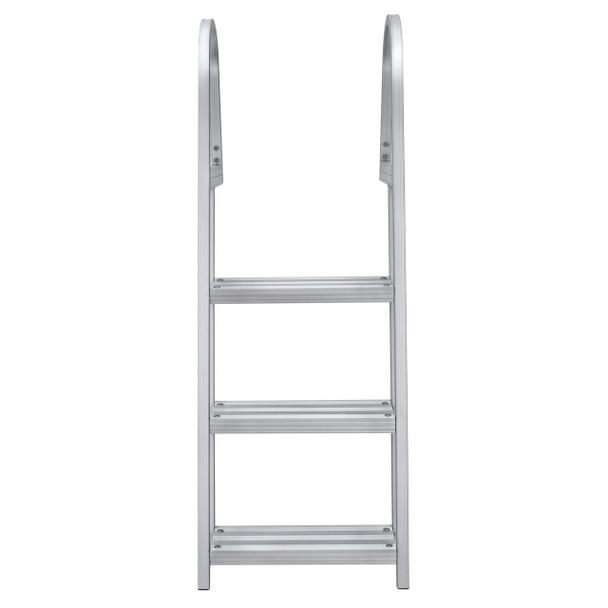 AL-A3 Aluminum Three Step Angled Pontoon Boat Boarding Ladder
