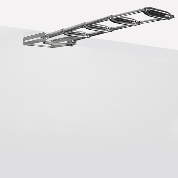 "SSL-E4W Stainless Steel Under Transom/Boat Platform Ladder (13.5"" Wide Steps)"