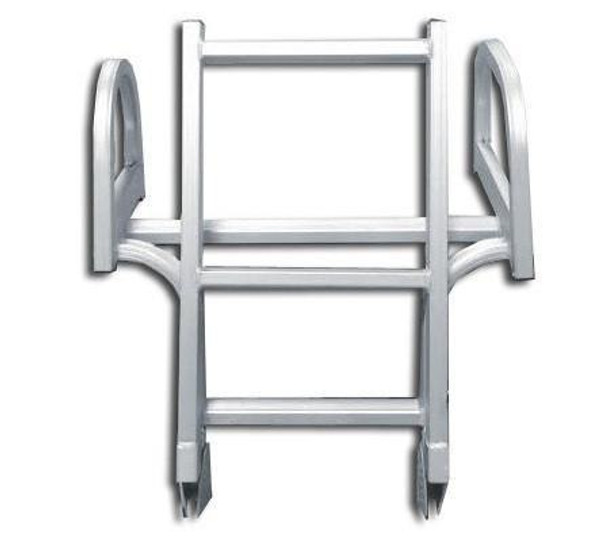 AL-D4 Aluminum Rear Entry Four Step Pontoon Boat Ladder