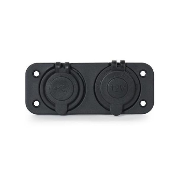 Marine Grade RV Dual USB & 12V Power Socket