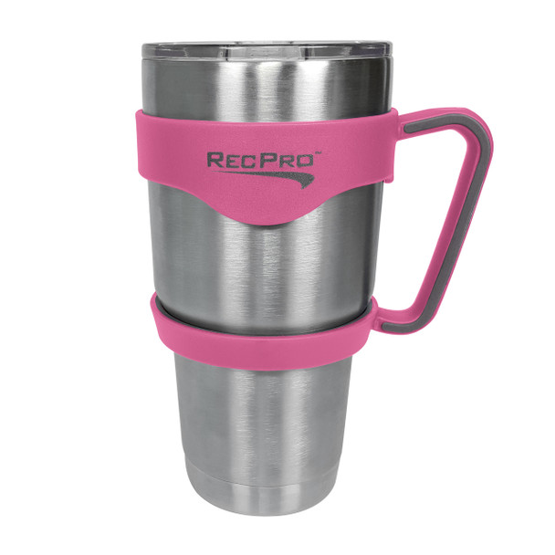 RecPro 30oz Handle for Stainless Steel Tumbler Pink