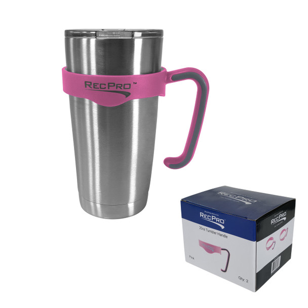 RecPro 20oz Handle for Stainless Steel Tumbler Pink