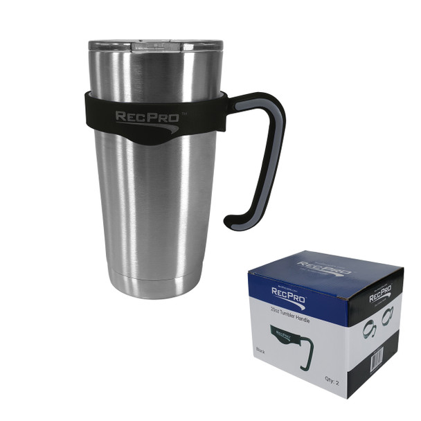 RecPro 20oz Handle for Stainless Steel Tumbler Black