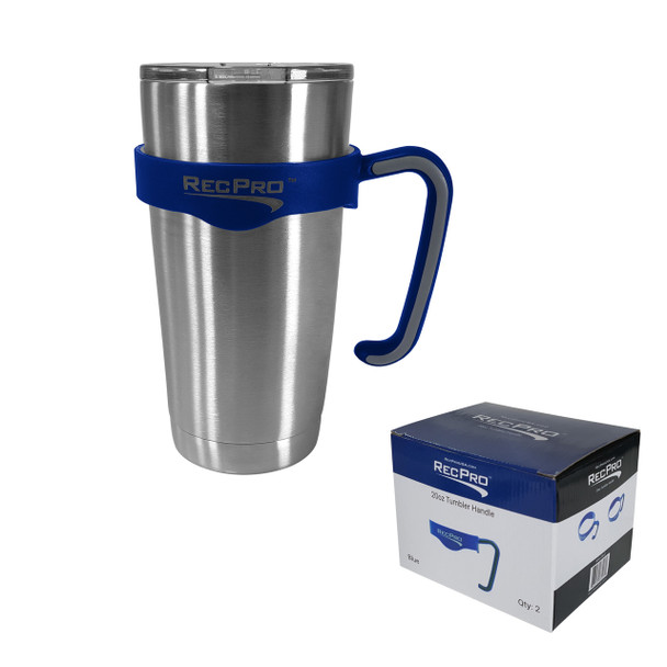 RecPro 20oz Handle for Stainless Steel Tumbler Blue