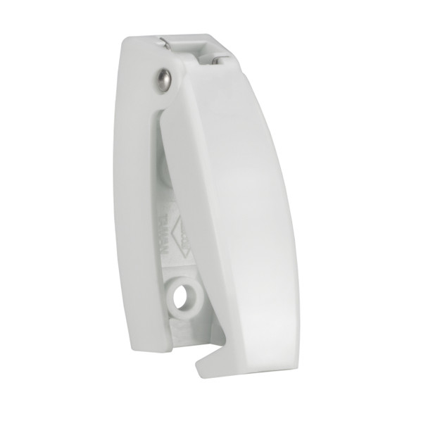 RV Baggage Door Catch Rounded White