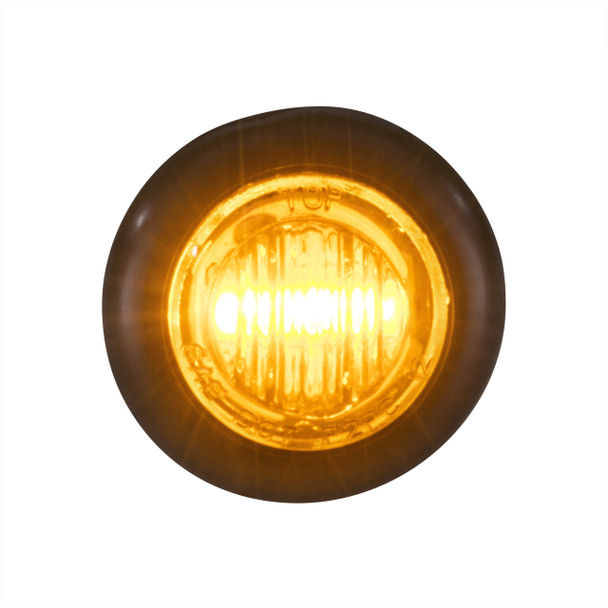 "3/4"" Clear/Amber LED Clearance Marker Bullet Lights"