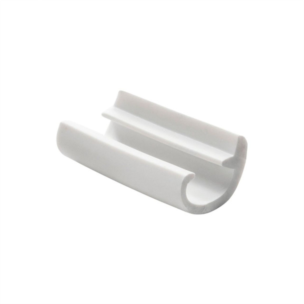 White Flexible RV Screw Cover Trim Molding w Leg