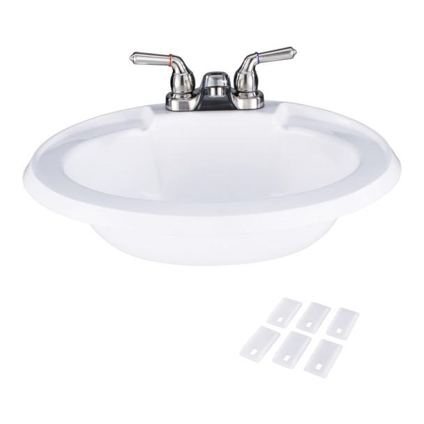 RV Bathroom Sink w/ Brushed Nickel Faucet