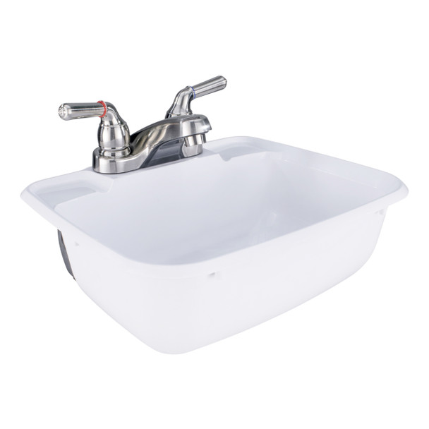 RV Bathroom Sink w/ Brushed Nickel Faucet Combo
