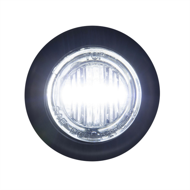 "3/4"" Clear/Clear LED Clearance Marker Bullet Lights"