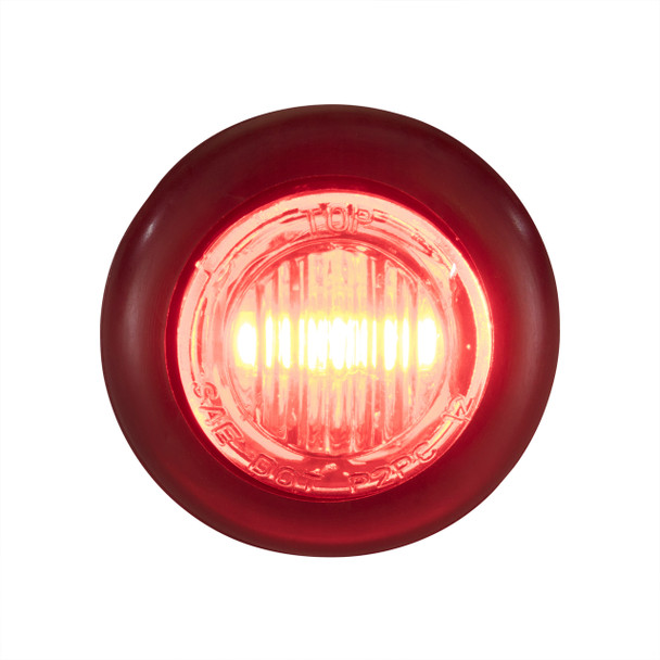 "3/4"" Red/Red LED Clearance Marker Bullet Lights (5, 10, and 20 Packs)"
