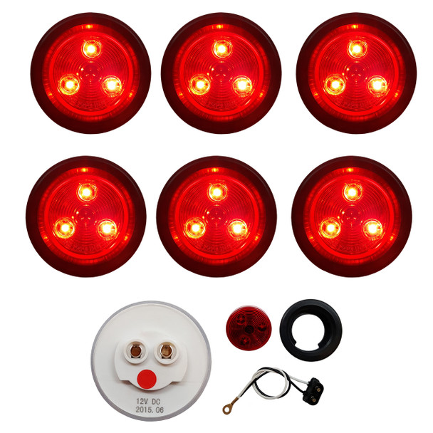 "2"" Red/Red Round Light Kit"