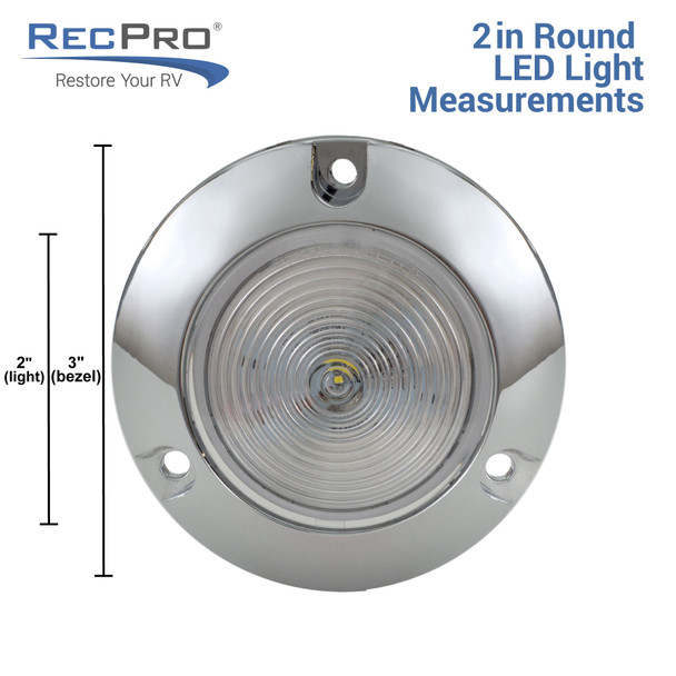 """2"""" Clear/Amber Round Surface Mount RV Light"""