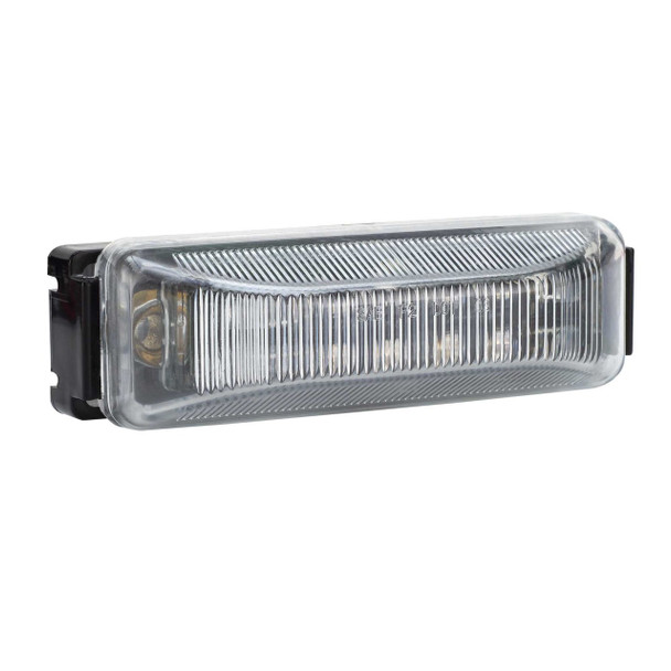 """4"""" x 1"""" Rectangle RV LED Marker Light Clear/Amber"""