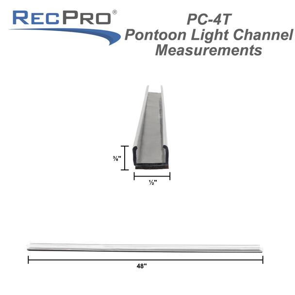 """48"""" PC Strip Light Channel Underdeck"""