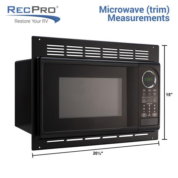 RV Microwave Black
