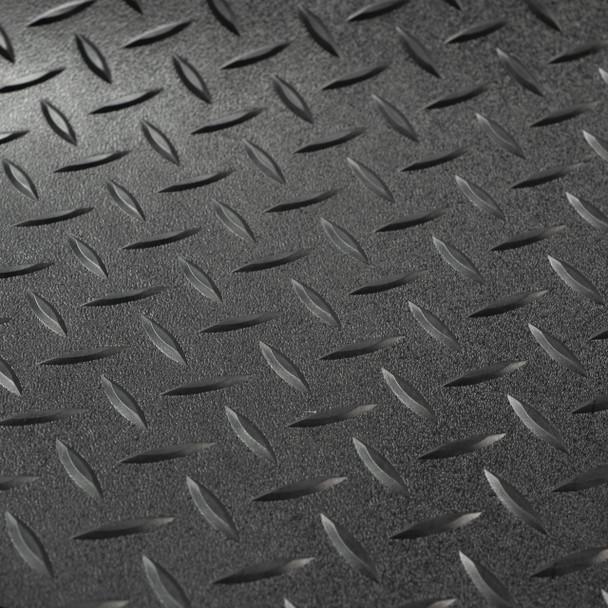 "8'6"" Diamond Pattern RV Flooring In Black"