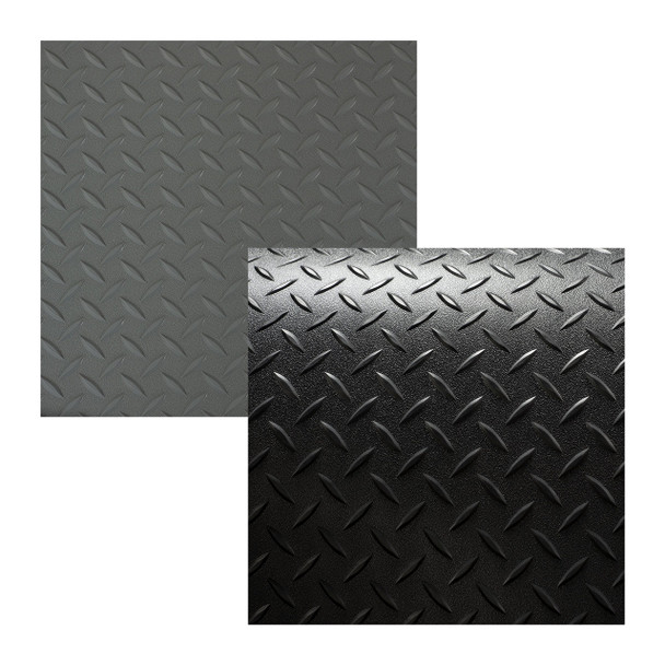 "8'2"" Diamond Pattern RV Flooring In Black and Gray"