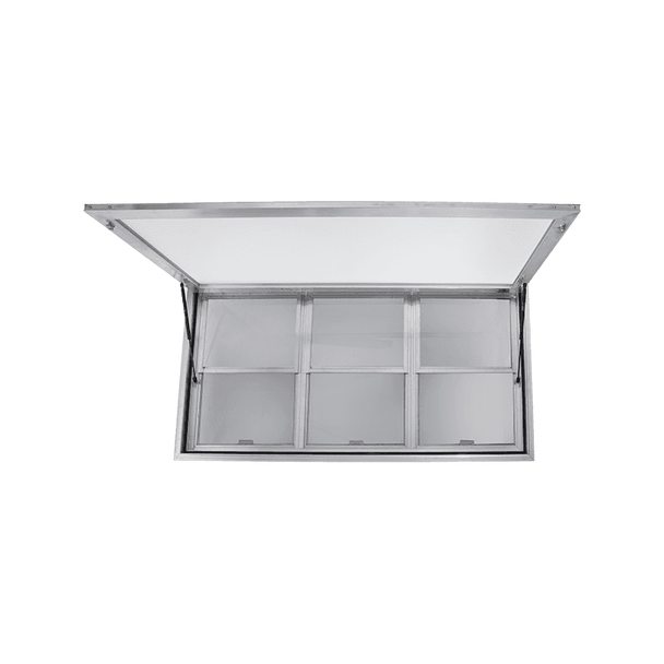 Custom Concession Stand Window and Awning For Food Trucks and Concession Trailers with Vertical lift Windows