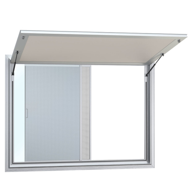 Concession Stand Windows and Awnings with 1 Horizontal Slide Window