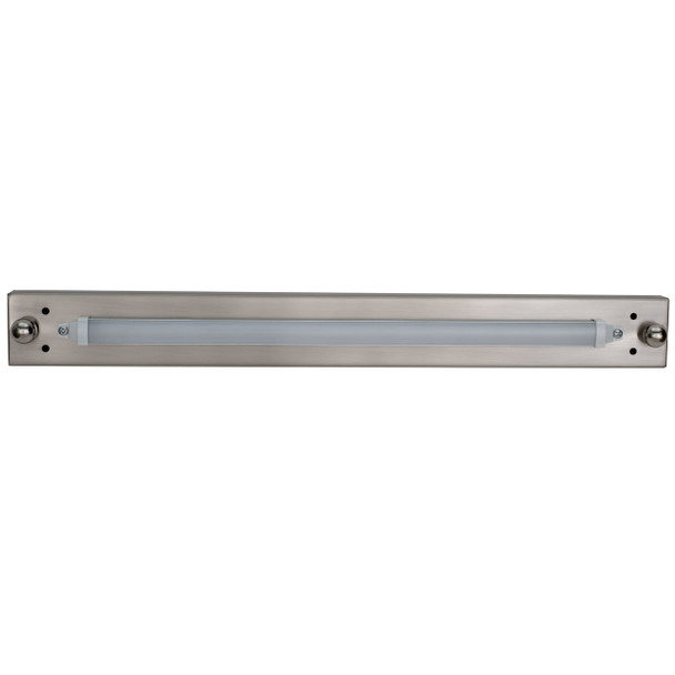 "18"" RV Vanity Light With Cover 12V LED Brushed Nickel"