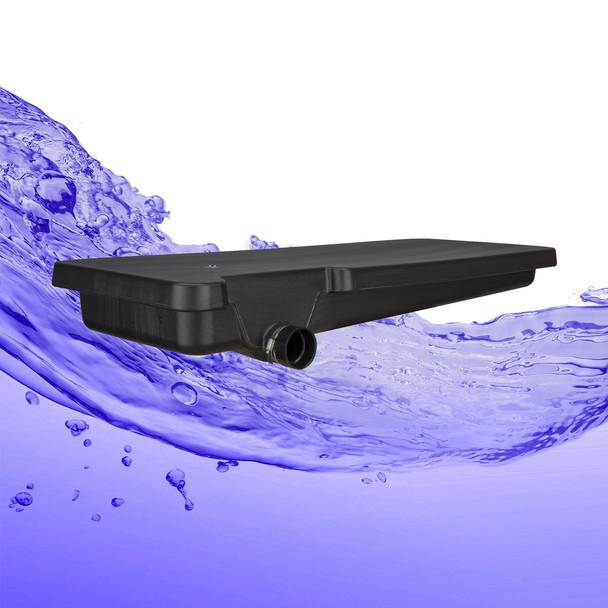 "40 Gallon Black Waste Water RV Holding Tank Left Side Drain 63"" x 25"" x  9 1/4"""