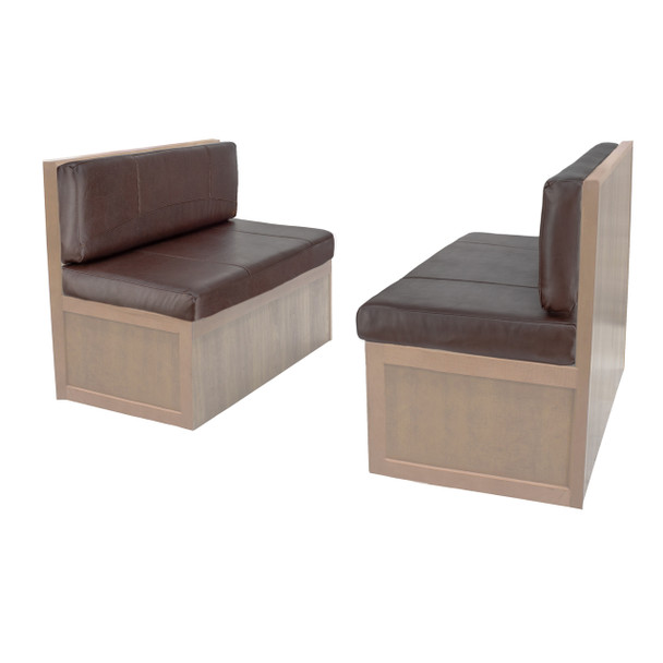 Charles Style RV Dinette Cushions 36 to 44 with Suprima Leather and Memory Foam