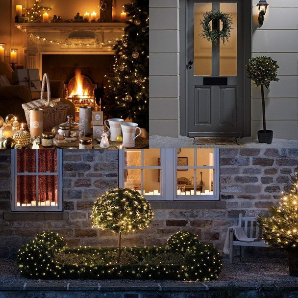 17.7' Warm White Battery Operated String Christmas Lights