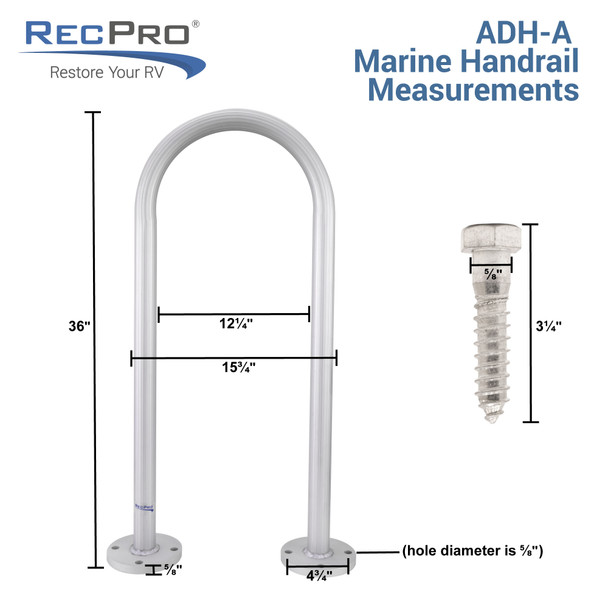 Aluminum Dock Handrail for Piers, Boats and Floating Rafts