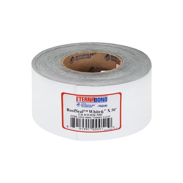 Eternabond White RV Rubber Roof Seal 4' Wide Cut To Length