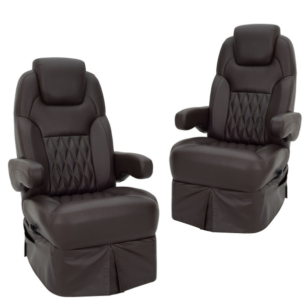 RecPro® Nash Drivers and Passenger RV Captain's Chair Set with Ultra Brisa Fabric