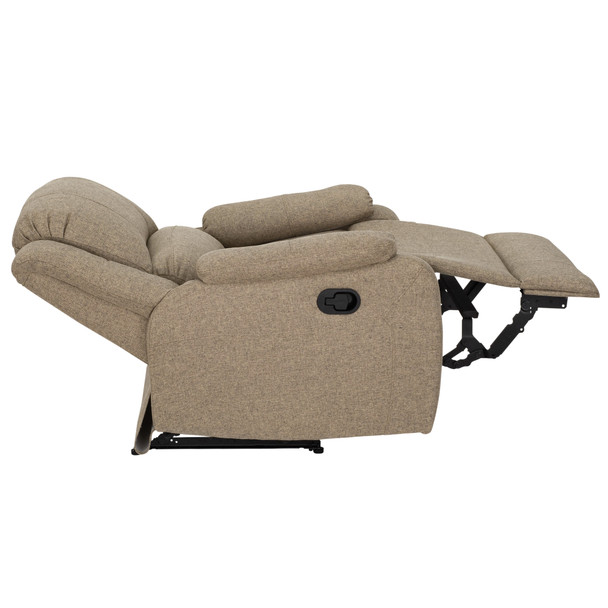 "RecPro Charles 30"" RV Wall Hugger Recliner RV Zero Wall Chair in Cloth"