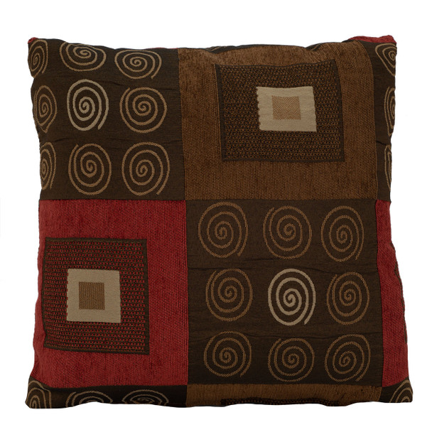 RecPro® RV Pillow Decorative Throw Pillow Red & Brown