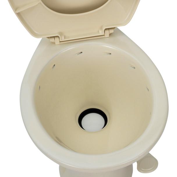 "Ceramic RV Toilet Standard 18"" Height"