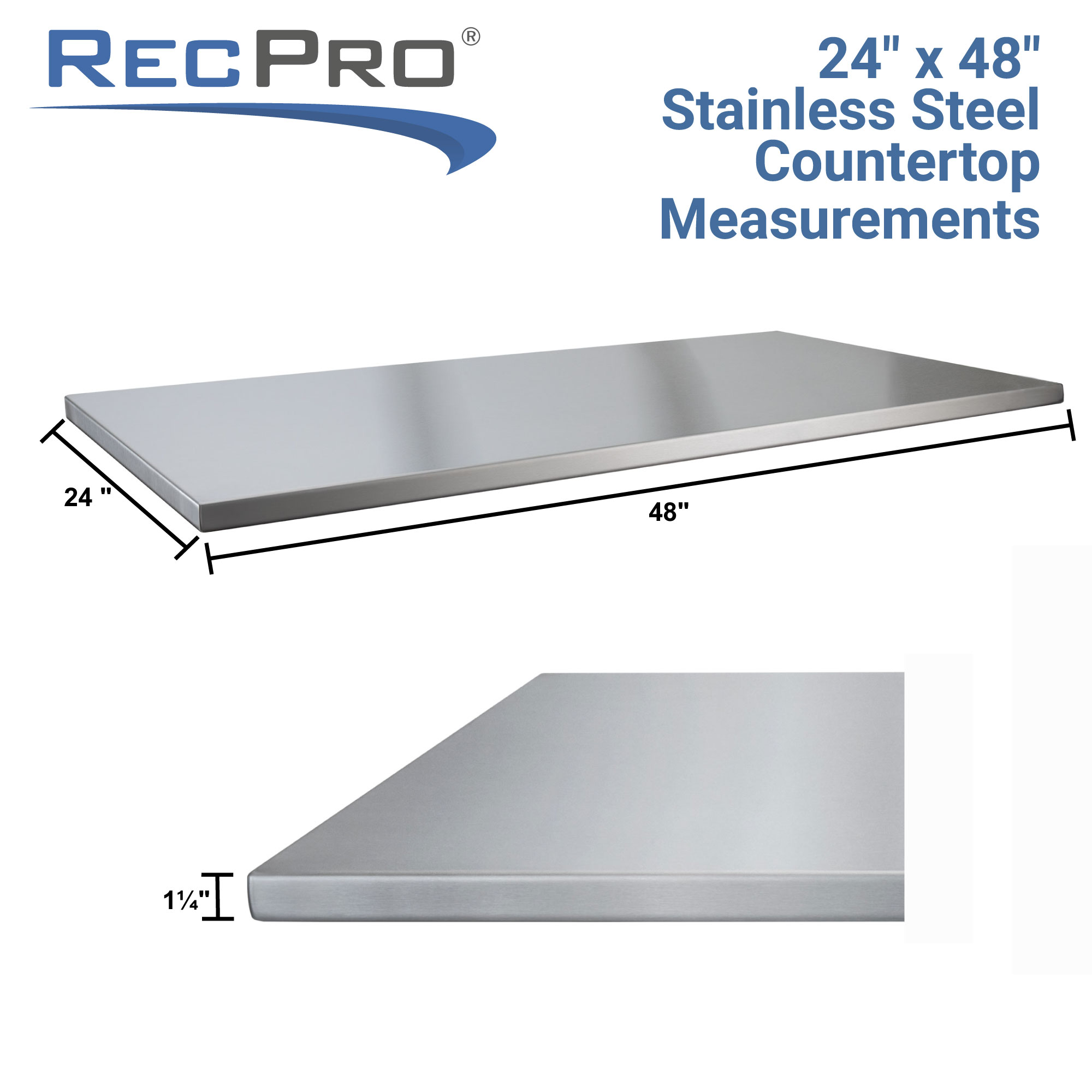 48 x 24 Stainless Countertop