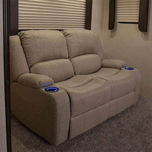 """Powered 58"""" Recliner Sofa in Cloth"""