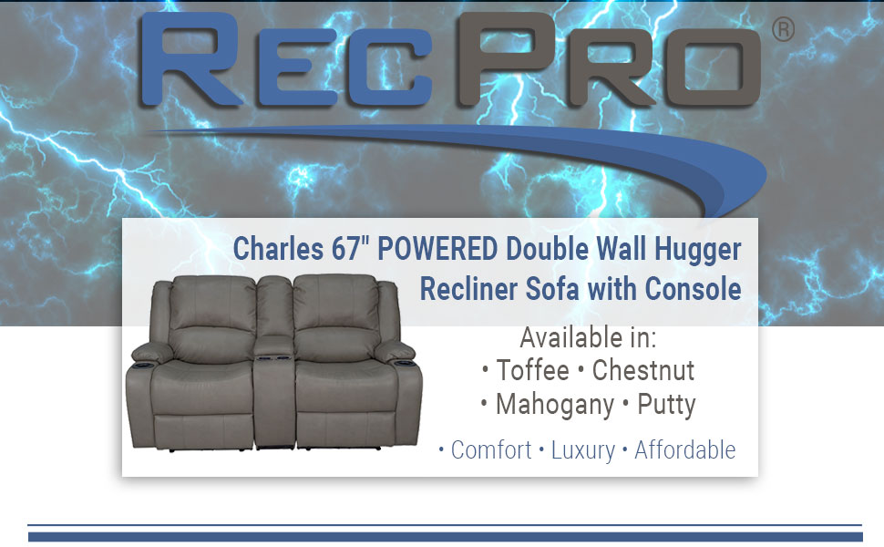 """67"""" Recliner Couch"""