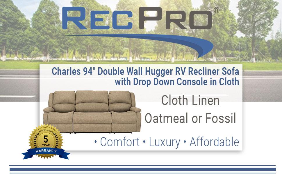 """94"""" Recliner Sofa"""