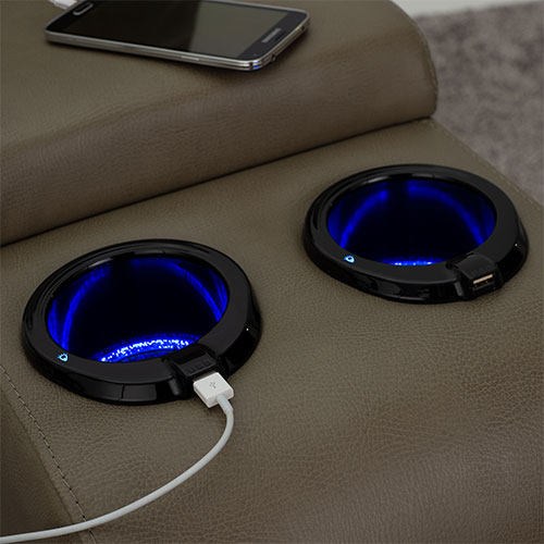 Blue LED Cupholders