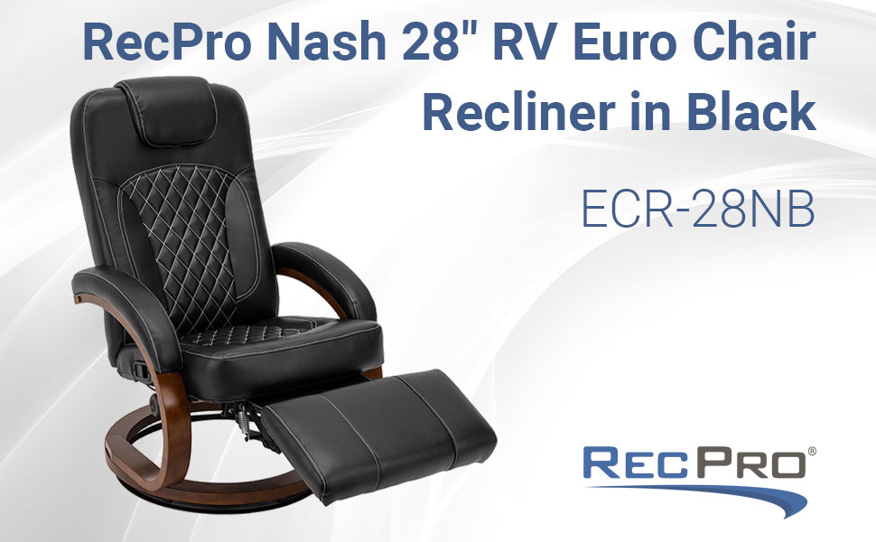 Euro Chair Recliner Nash Black