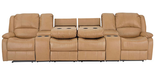 """126"""" Sofa in Toffee"""