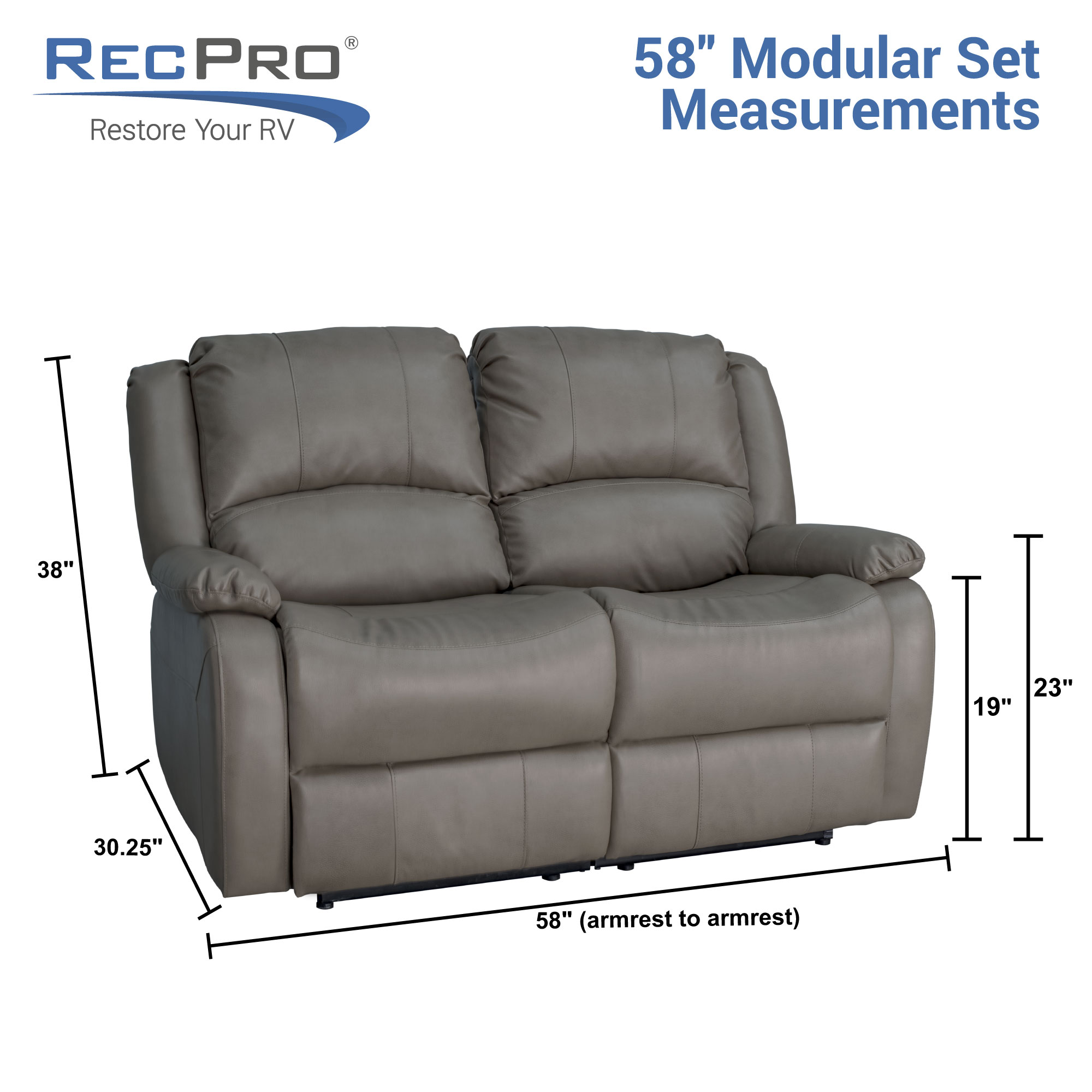 Incroyable RV Double Recliner