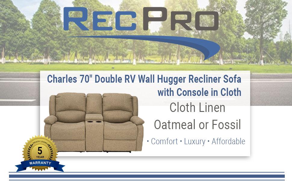 """70"""" Recliner Sofa in Cloth"""