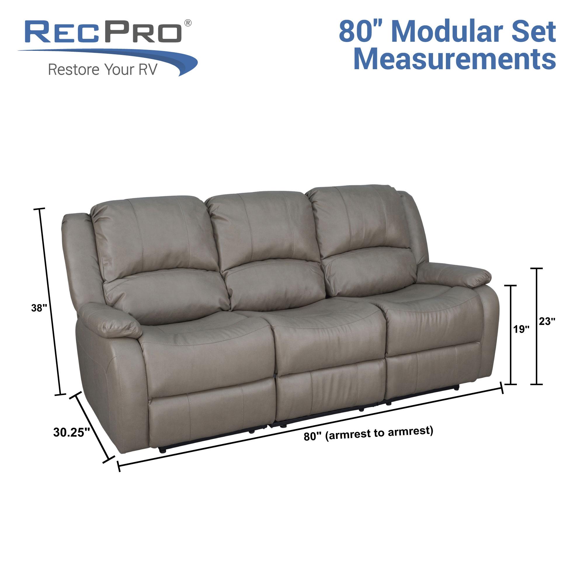 Astounding Recpro Charles 80 Triple Rv Wall Hugger Recliner Sofa With Machost Co Dining Chair Design Ideas Machostcouk