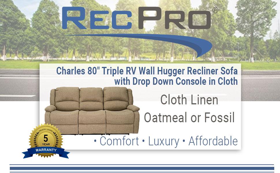 """80"""" Recliner Sofa"""