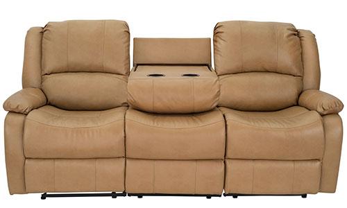 """80"""" Recliner Sofa in Toffee"""