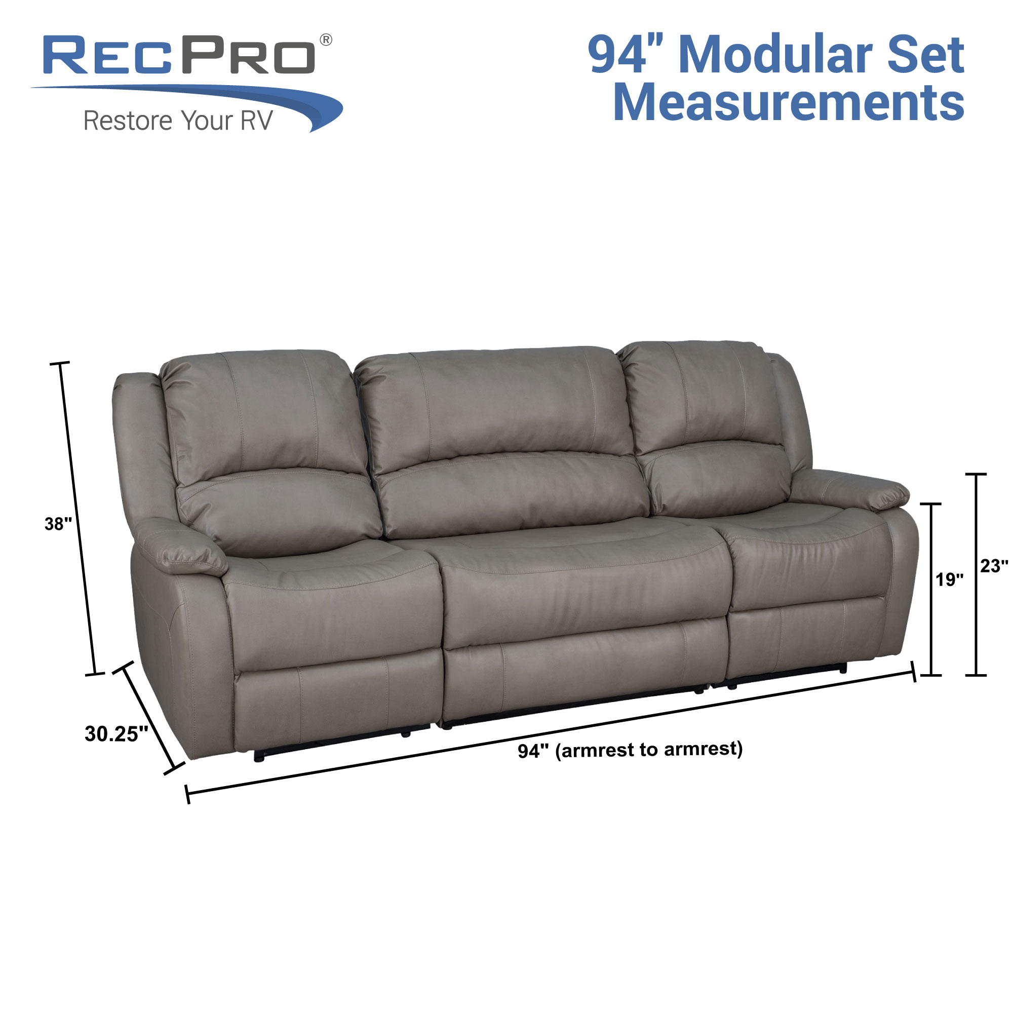 RV Double Recliner with Console