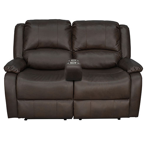 """58"""" Recliner Sofa with Portable Cup Holder"""
