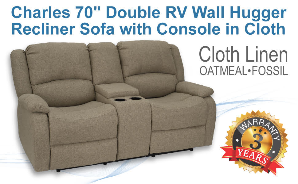 "70"" Recliner Sofa in Cloth"